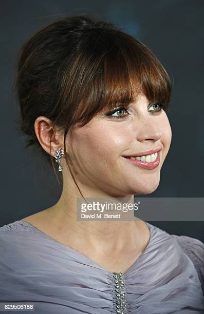 Felicity Jones attends a fan screening of Rogue One A Star Wars Story at the BFI IMAX on December 13 2016 in London England