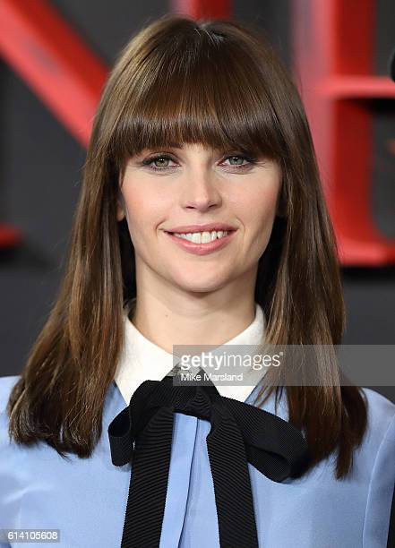 Felicity Jones attends a photocall for 'Inferno' at Corinthia Hotel London on October 12 2016 in London England