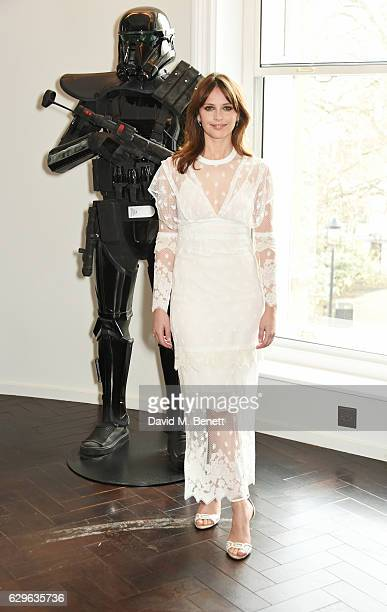 Felicity Jones attends a photocall for 'Rogue One A Star Wars Story' at the Corinthia Hotel London on December 14 2016 in London England