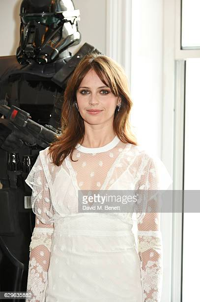 Felicity Jones attends a photocall for Rogue One A Star Wars Story at the Corinthia Hotel London on December 14 2016 in London England