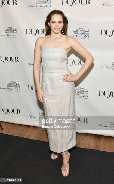 Felicity Jones attends as DuJour cover star Felicity Jones celebrates their winter issue with CEO and Founder Jason Binn presented by Paul Chevalier...