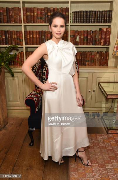 Felicity Jones attends Special Screening of On the Basis of Sex at The Soho Hotel on February 13 2019 in London England