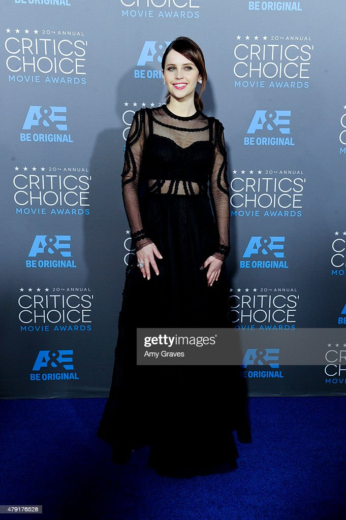 Felicity Jones attends the 20th Annual Critics' Choice Movie Awards on January 15, 2015 in Los Angeles, California.