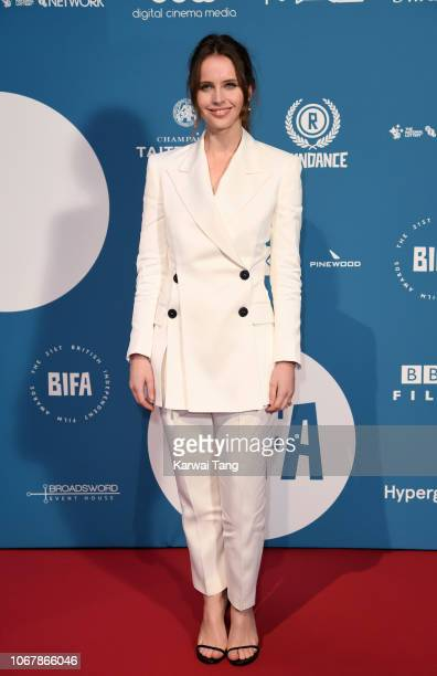 Felicity Jones attends the 21st British Independent Film Awards at Old Billingsgate on December 2 2018 in London England