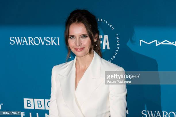 Felicity Jones attends the 21st British Independent Film Awards at Old Billingsgate in the City of London December 02 2018 in London United Kingdom