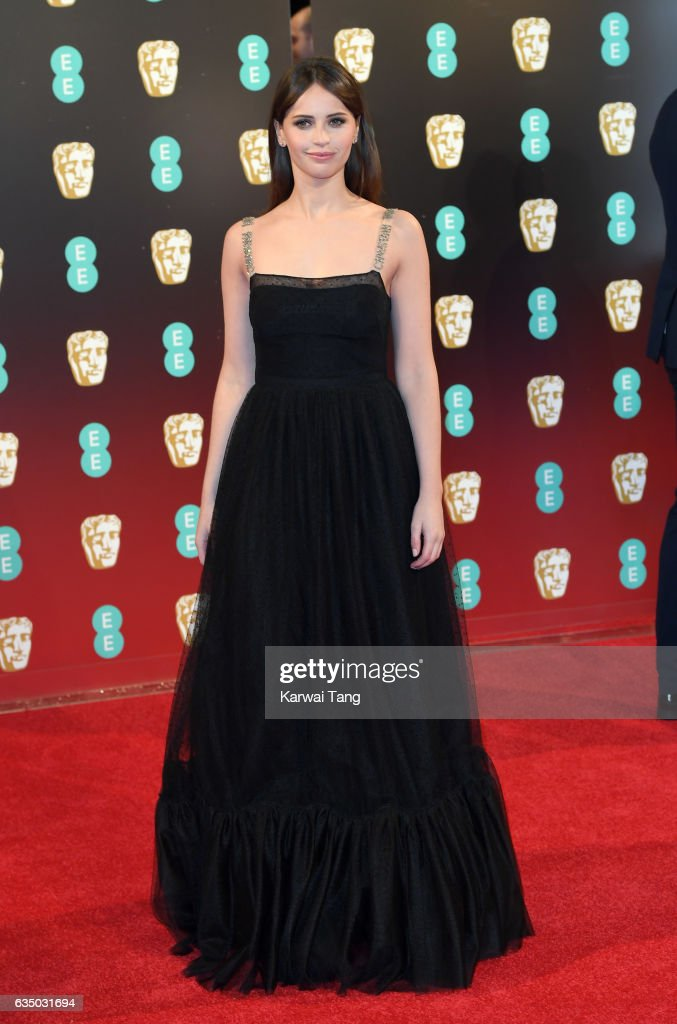 Felicity Jones attends the 70th EE British Academy Film Awards (BAFTA) at the Royal Albert Hall on February 12, 2017 in London, England.
