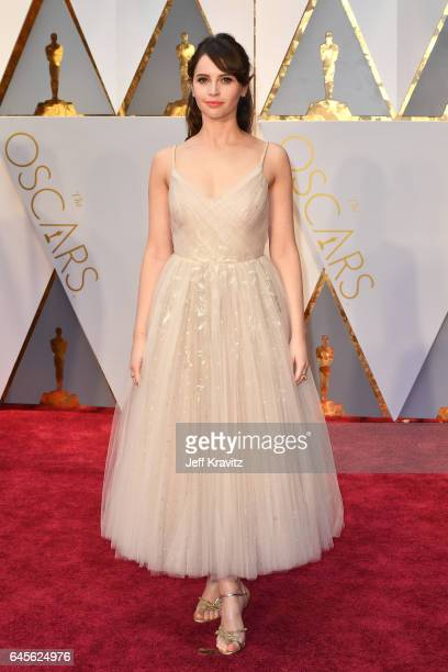 Felicity Jones attends the 89th Annual Academy Awards at Hollywood Highland Center on February 26 2017 in Hollywood California