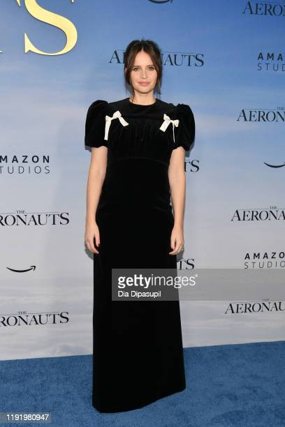 Felicity Jones attends The Aeronauts New York Premiere at SVA Theater on December 04 2019 in New York City