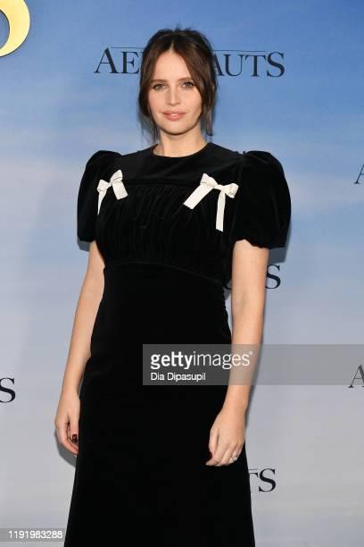 Felicity Jones attends The Aeronauts New York Premiere at SVA Theater on December 04 2019 in New York City