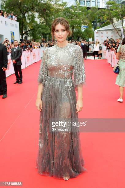 Felicity Jones attends The Aeronauts premiere during the 2019 Toronto International Film Festival at Roy Thomson Hall on September 08 2019 in Toronto...
