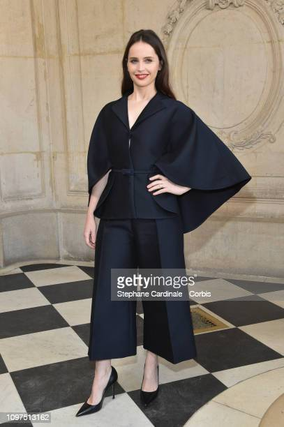 Felicity Jones attends the Christian Dior Haute Couture Spring Summer 2019 show as part of Paris Fashion Week on January 21 2019 in Paris France