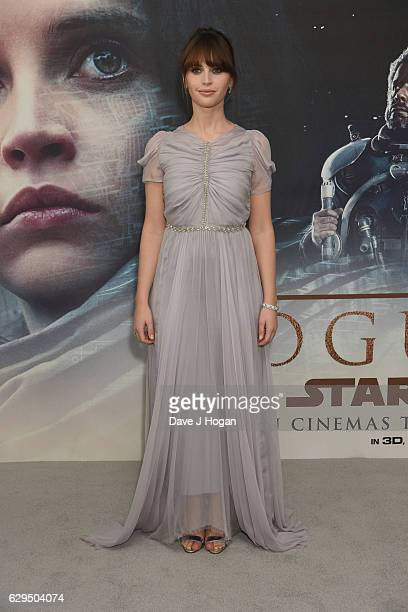 Felicity Jones attends the exclusive fan screening of Rogue One A Star Wars Story at BFI IMAX on December 13 2016 in London England