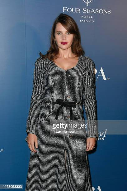 Felicity Jones attends the HFPA/THR TIFF PARTY during the 2019 Toronto International Film Festival at Four Seasons Hotel on September 07 2019 in...