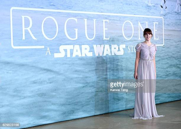 Felicity Jones attends the launch event for Rogue One A Star Wars Story at Tate Modern on December 13 2016 in London England