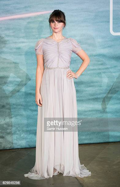 Felicity Jones attends the launch event for 'Rogue One A Star Wars Story' at Tate Modern on December 13 2016 in London England
