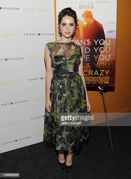 Felicity Jones attends the Like Crazy premiere at the Sunshine Landmark theater on October 18 2011 in New York City