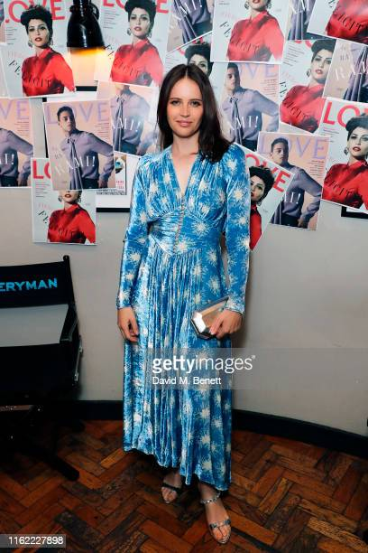 Felicity Jones attends the #MOVINGLOVE screening hosted by Derek Blasberg Katie Grand at Screen on the Green on July 15 2019 in London England