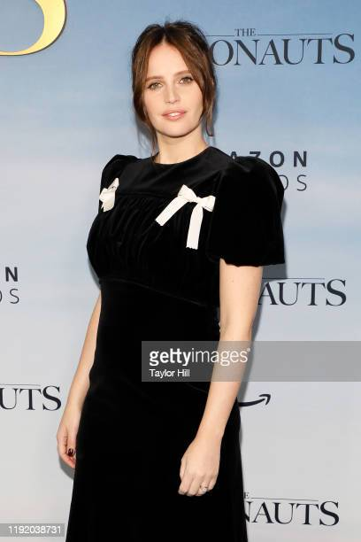 Felicity Jones attends the premiere of The Aeronauts at SVA Theater on December 04 2019 in New York City