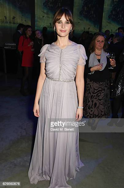 Felicity Jones attends the Rogue One A Star Wars Story launch event after party at the Tate Modern on December 13 2016 in London England