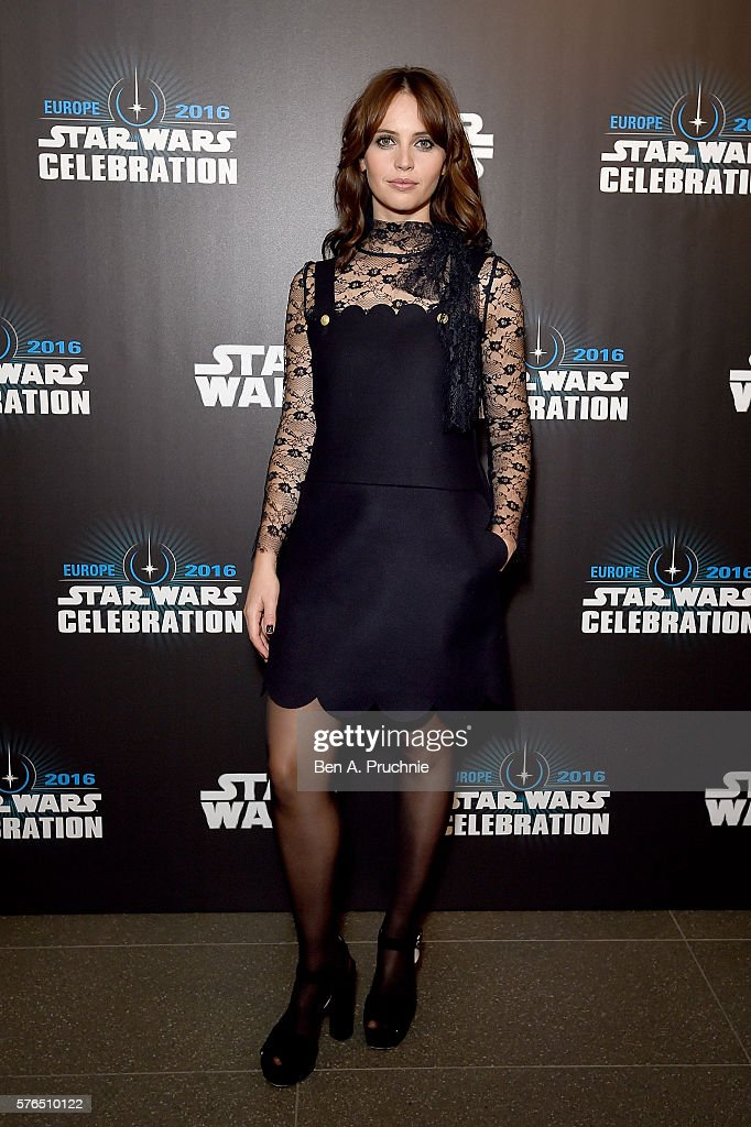 Felicity Jones attends the Star Wars Celebration 2016 at ExCel on July 15, 2016 in London, England.