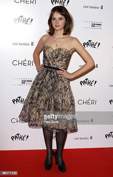 Felicity Jones attends the UK premiere of Cheri at Cine lumiere on May 6 2009 in London England