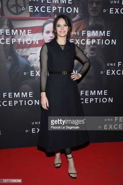 Felicity Jones attends Une Femme D'Exception On the Basis Of Sex at Cinema Gaumont Capucine on December 04 2018 in Paris France
