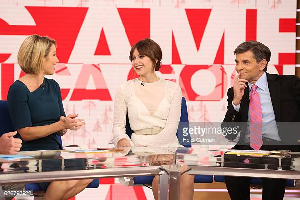 AMERICA Felicity Jones is a guest on 'Good Morning America' 11/28/16 airing on the ABC Television Network AMY