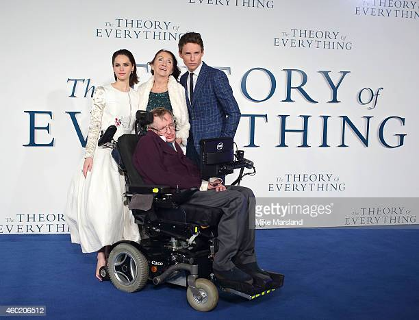 Felicity Jones Jane HawkingProfessor Stephen Hawking and Eddie Redmayne attend the UK Premiere of The Theory Of Everything at Odeon Leicester Square...