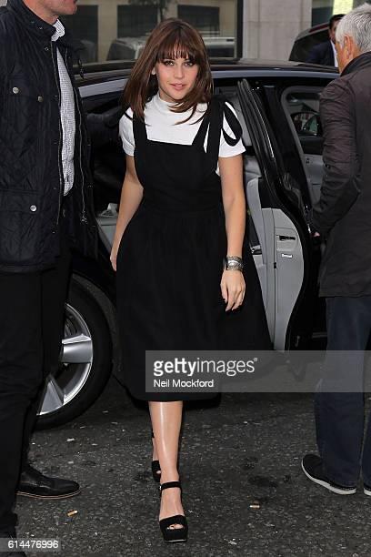 Felicity Jones seen at BBC Radio 2 on October 14 2016 in London England