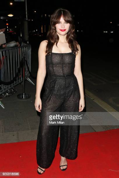 Felicity Jones seen at the Vogue and Tiffany Co party at Annabel's club after attending the EE British Academy Film Awards at the Royal Albert Hall...