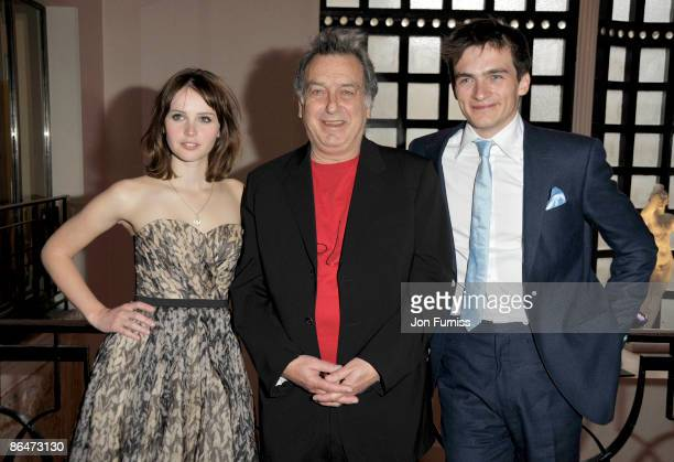 Felicity Jones Stephen Frears and Rupert Friend attend the UK premiere of 'Cheri' at Cine lumiere on May 6 2009 in London England