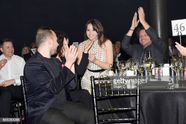 Felicity Jones wins the award for Best Actress during the THREE Empire awards at The Roundhouse on March 19 2017 in London England
