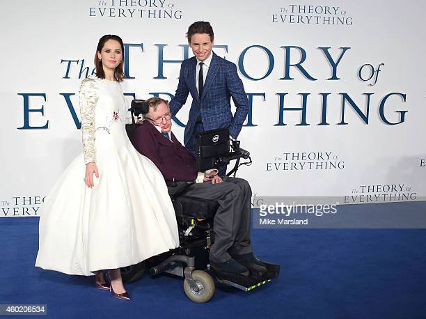 Felicity JonesProfessor Stephen Hawking and Eddie Redmayne attend the UK Premiere of The Theory Of Everything at Odeon Leicester Square on December 9...