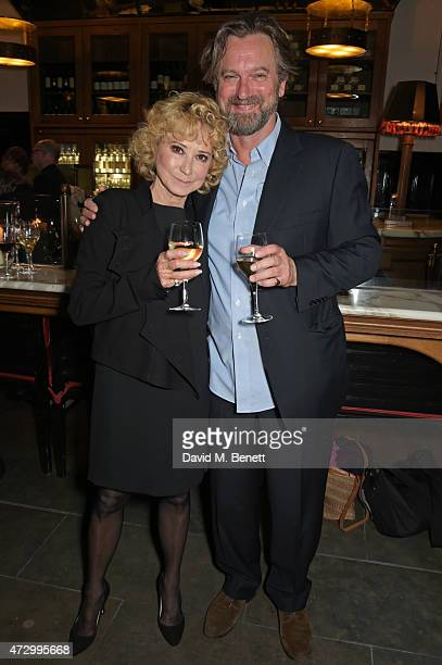 Felicity Kendal and Simon Shepherd attend an after party following the press night performance of Hay Fever at the The National Cafe on May 11 2015...