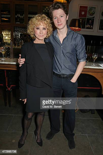 Felicity Kendal and son Jacob Rudman attend an after party following the press night performance of Hay Fever at the The National Cafe on May 11 2015...
