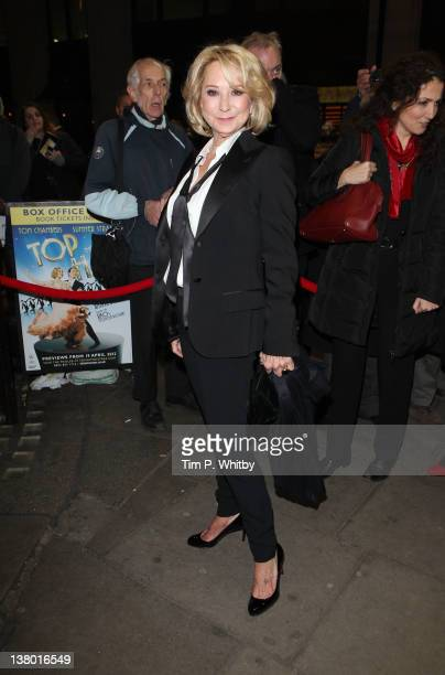 Felicity Kendal arrives for the Press Night for Midnight Tango at Aldwych Theatre on January 31 2012 in London England