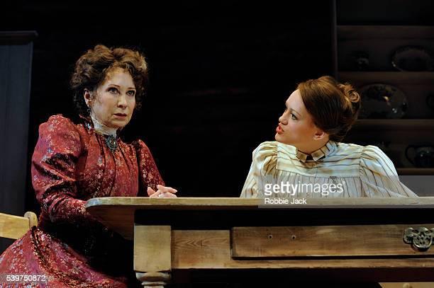 Felicity Kendal as Mrs Warren and Lucy BriggsOwen as Vivie Warren in the production of George Bernard Shaw's Mrs Warren's Profession directed by...