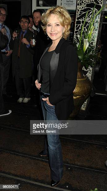 Felicity Kendal attends the 'Mrs Warren's Profession' press night after party at Jewel on March 25 2010 in London England