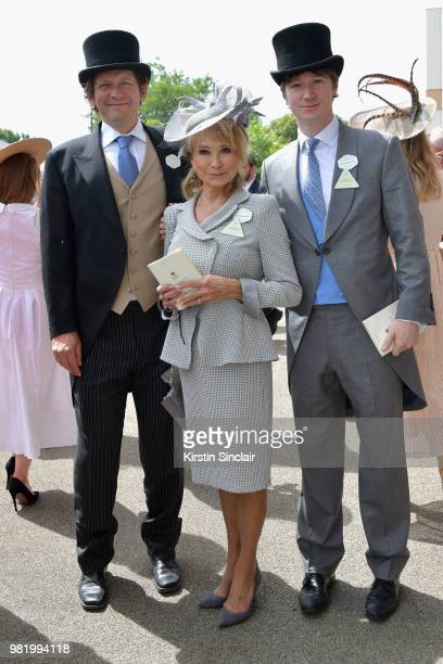 Felicity Kendal Michael Rudman and Jacob Rudman attend day 5 of Royal Ascot at Ascot Racecourse on June 23 2018 in Ascot England