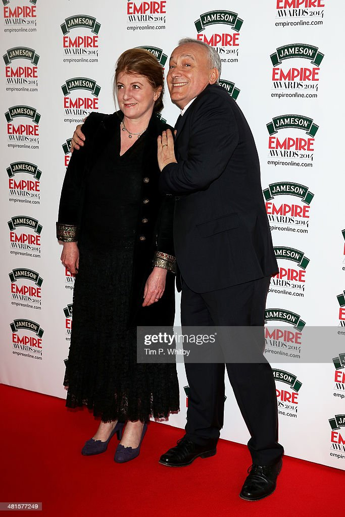 Felicity Montagu and Simon Greenall attends the Jameson Empire Awards 2014 at the Grosvenor House Hotel on March 30, 2014 in London, England. Regarded as a relaxed end to the awards show season, the Jameson Empire Awards celebrate the film industry's success stories of the year with winners being voted for entirely by members of the public. Visit empireonline.com/awards2014 for more information.