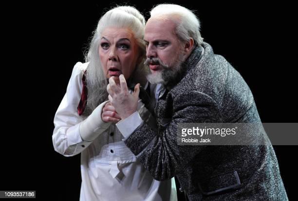 Felicity Palmer as The Countess and Vladimir Stoyanov as Prince Yeletsky in Pyotr Il'yich Tchaikovsky's The Queen of Spades directed by Stefan...
