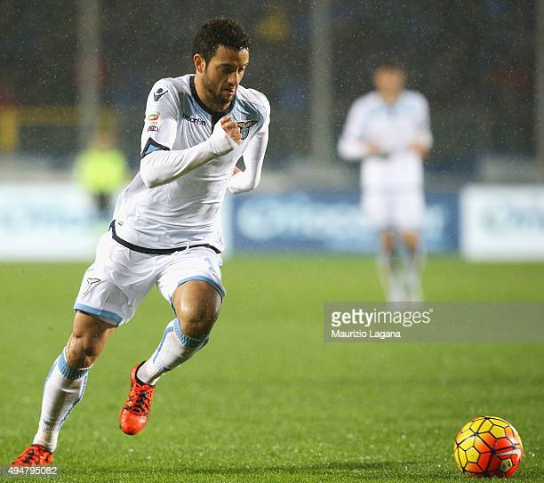 Felipe Anderson of Lazio during the Serie A match between Atalanta BC and SS Lazio at Stadio Atleti Azzurri d'Italia on October 28 2015 in Bergamo...