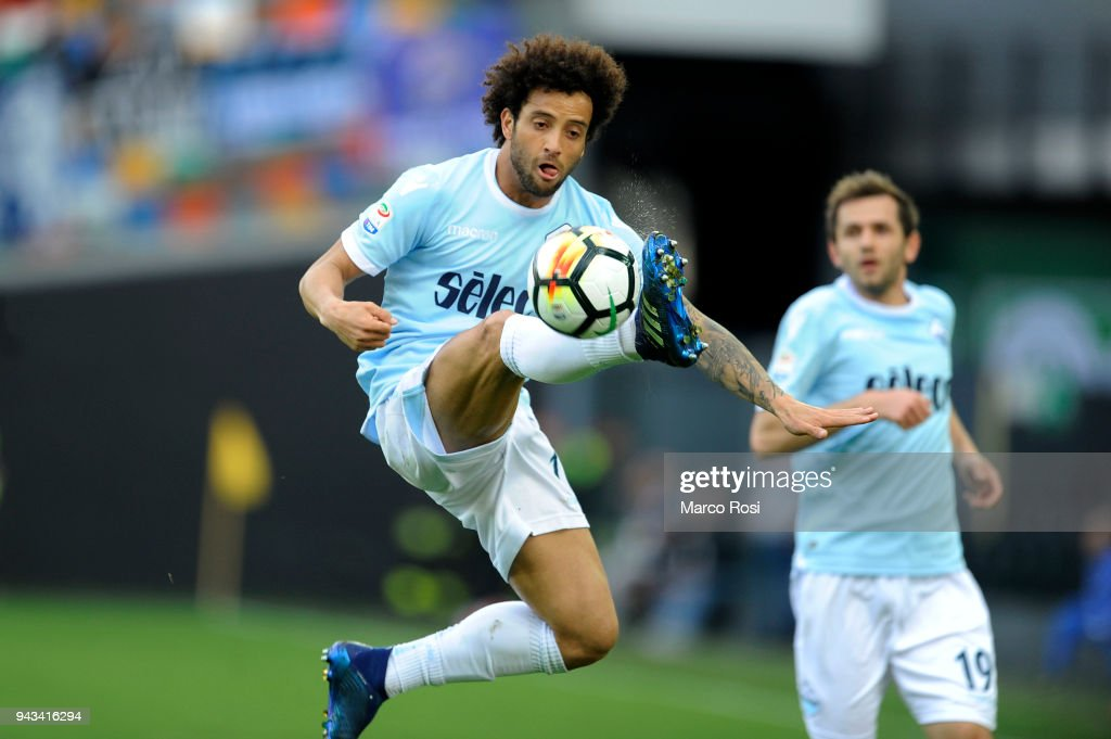 Felipe Anderson of SS azio in action during the serie A match between Udinese Calcio and SS Lazio at Stadio Friuli on April 8, 2018 in Udine, Italy.