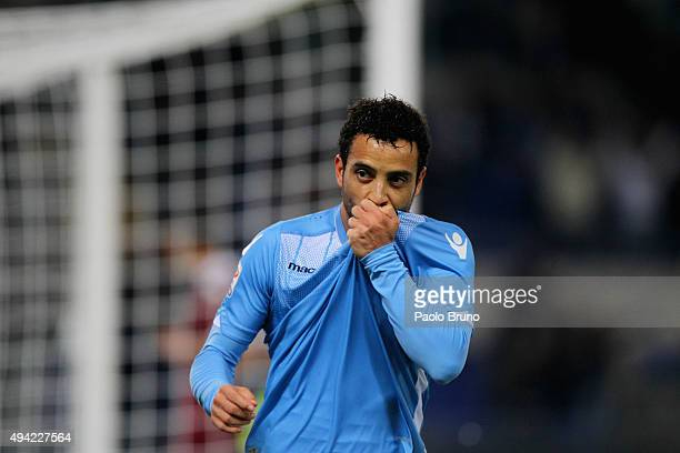 Felipe Anderson of SS Lazio celebrates after scoring the team's second goal during the Serie A match between SS Lazio and Torino FC at Stadio...