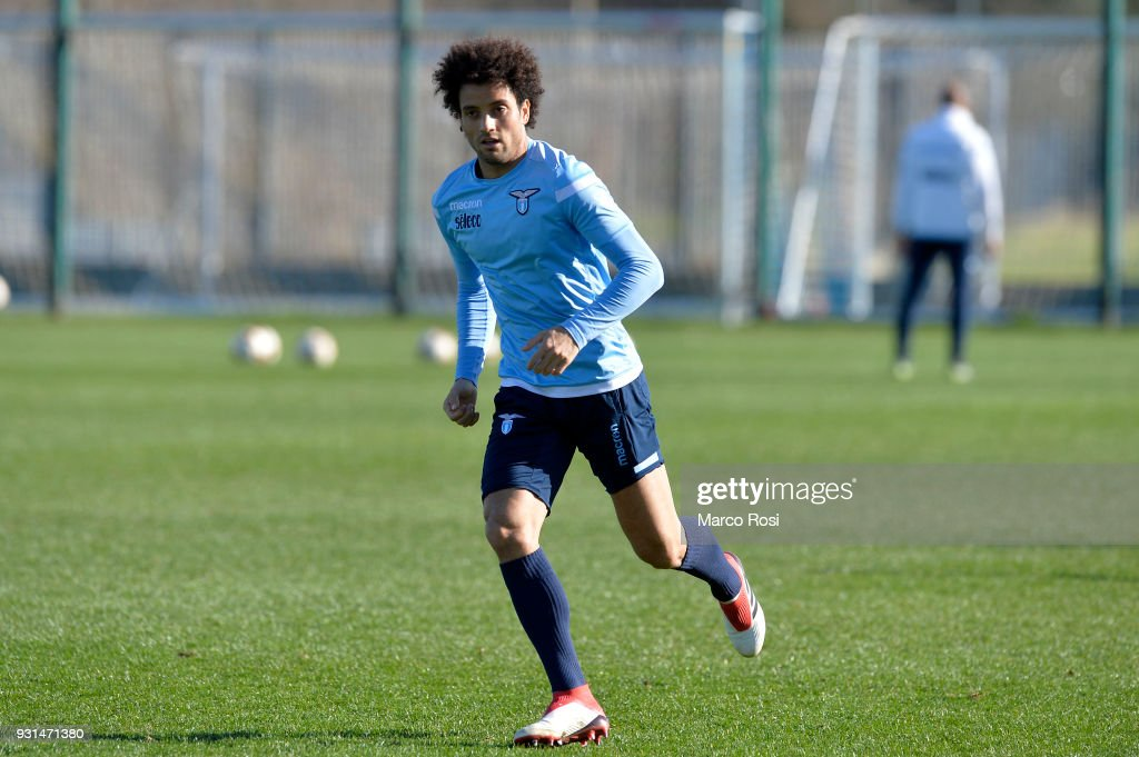 Felipe Anderson of SS Lazio during a training session on March 13, 2018 in Rome, Italy.