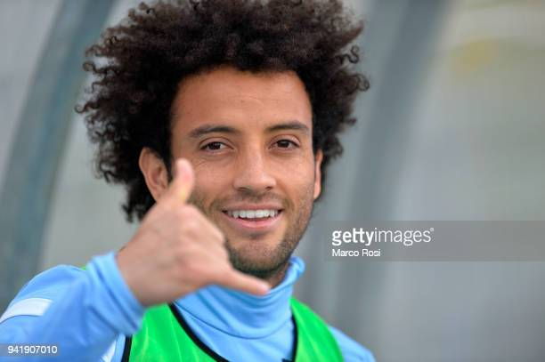 Felipe Anderson of SS Lazio during the SS Lazio training session on April 4 2018 in Rome Italy