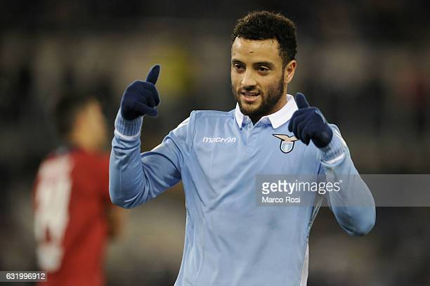 Felipe Anderson of SS Lazio during the TIM Cup match between SS Lazio and Genoa CFC at Olimpico Stadium on January 18 2017 in Rome Italy