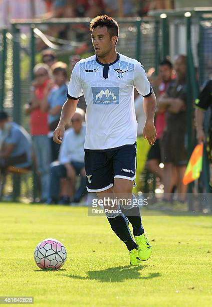 Felipe Anderson of SS Lazio in action during the preseason friendly match between SS Lazio and Vicenza Calcio on July 18 2015 in Auronzo near Cortina...