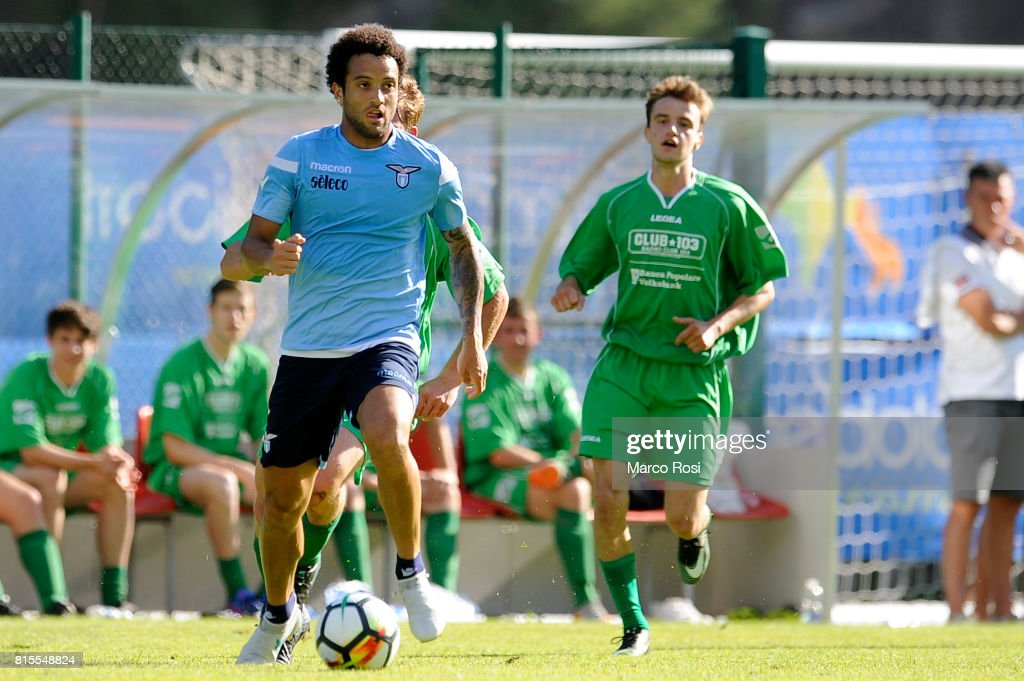 Felipe Anderson of SS lazio in action during the Pre-Season Friendly match between SS Lazio and Reappresentativa Cadore on July 16, 2017 in Pieve di Cadore, Italy.