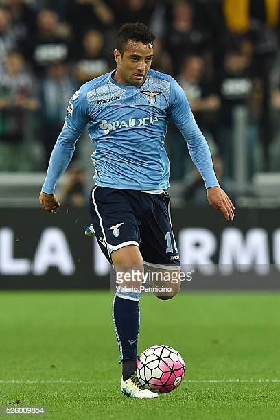 Felipe Anderson of SS Lazio in action during the Serie A match between Juventus FC and SS Lazio at Juventus Arena on April 20 2016 in Turin Italy